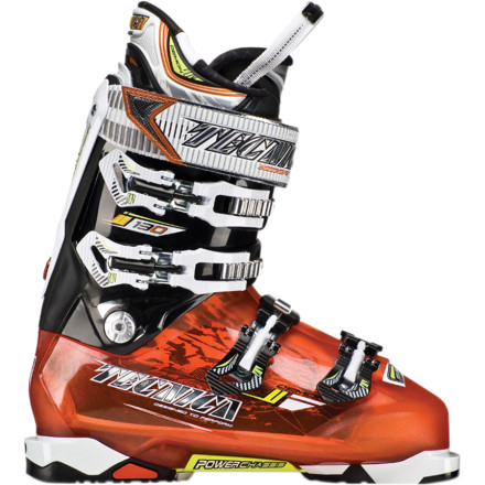 Ski The Tecnica Demon 130 Ski Boot  is a high-performance speed demon. The carbon-steel Power Chassis incorporated into the sole of the boot allows maximum power transmission to the ski for control, stability, and confidence at high speed. Although super-stiff and built for speed, the Demon's Quick Instep System makes entry and exit a pleasure. Scary-fast riders, prepare to step into this boot and exorcise your demons. - $524.96