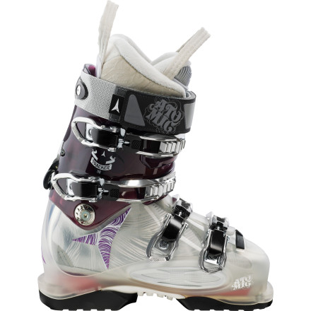 Ski Don't be left in-bounds when the boys head out to their favorite backcountry bowls. Step into the Atomic Women's Tracker 110 Ski Boot and break trail ahead of the best of them. The Power Control Release easily switches between touring and ski mode for the ascent while a female-specific liner and stiff flex allow you to crush the descent. Everything is better when you make your own tracks. - $374.99