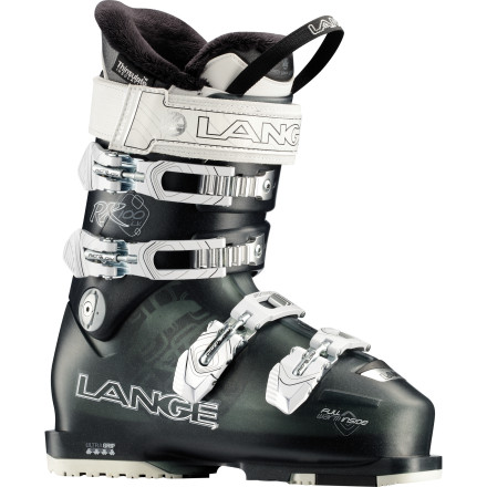 Ski Instead of watered-down ski boots with frilly graphics (a.k.a a mens' ski boots with women's graphics), invest in the Lange Women's Exclusive RX 100 LV Ski Boots. Lange understands that women have smaller feet and lower calf muscles, so it designed these women-specific boots to accommodate your need for high performance, all-mountain boots. At 97mm, the RX 100 LVs are 3mm more narrow than their twin sister the RX 100, so your feet don't feel as if they're sloshing around while you arc turns on groomers or get a bit rowdy in the bumps. - $384.97
