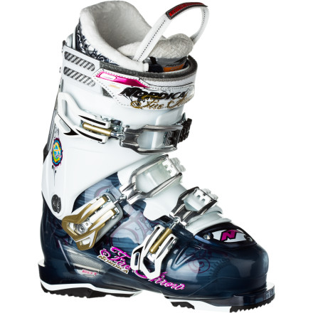 Ski The Nordica Women's Firearrow F3 Ski Boot takes your big wide ski and shows it who's boss. Its new shell design supplies increased lateral stiffness and offers better control with today's wider skis, while the Firearrow's 105 progressive flex index allows quick transition from one turn to the next. EDT technology also delivers more power to the skis with less energy so you're able to efficiently lay high-speed turns down fresh corduroy and whip your skis down a steep bump run with ease. - $449.21