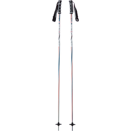 Ski A rental pole is heavy and bulky, but the Barber Pole from K2 is lightweight, strong, and comfy in your hand. You can thank the composite shaft for the weight savings and the low-profile grip for the smooth feel against your palm. This pole even makes grabs easierit's like a cheat code. - $44.96