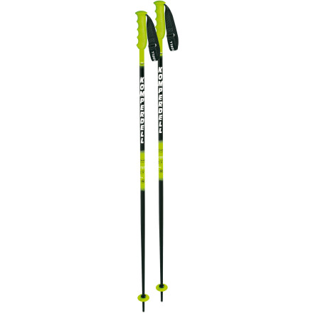 Ski For too long you've sported those different-length rental poles. Yeah, they were cheap, but boy did they destroy your form. The Komperdell Nationalteam 18mm Ski Poles match and they won't hinder your ski performance. These aluminum-strength poles have rubber grips and power straps that make it difficult for you to suddenly lose your pole while skiing. Steel tips penetrate packed snow and ice, and mini-race baskets make it easy for you to skate on the flats without fear of your pole sinking deep into the snow depths. - $55.97