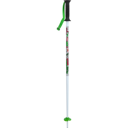 Ski Normally Mom or Dad have to remind you to run back into the house to grab your poles, but not with the Line Kids' Peg Ski Pole. Its sweet graphics, comfy 1980s bmx mushroom grip, and comfortable fit are never left behind. - $26.21