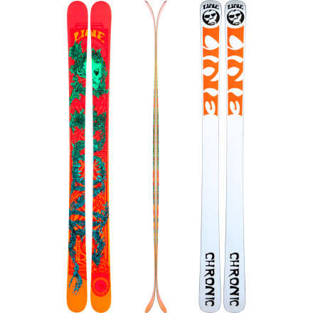 Ski You could put the Line Chronic Ski into a single category like 'freestyle' or 'all terrain', but this versatile, playful ski would rather you didn't. The Chronic is as nimble as it is solid and reliable. It has a new, light construction and a touch of early rise shaped into the tip and tail to smooth out choppy snow and plane over neck-deep pillows. We know you're going to take the Chronic to see the trees, but why not show it a cliff, a jump, or maybe a tight chute or two' This ski won't judge your ability (green horns and seasoned vets alike), so treat the entire mountain as your terrain park. - $399.96