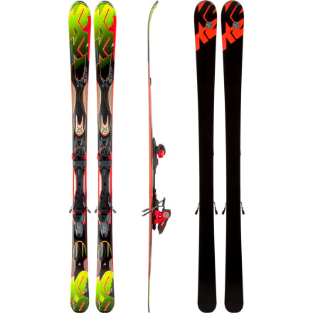 Ski You're looking at the guided missile of K2's all-mountain carving skis. This ski is laser-precise and packed with explosive turning power: the K2 Rictor Ski with Marker MX 12.0 Binding. This is an intermediate to expert-level tool designed for reaching speeds that'll peel your eyelids back and for exploring a mix of on-trail and off-trail terrain. Tip rocker helps the Rictor rise to the top of deep stashes, metal laminate and a clever dampening system take the vibrations out of choppy hard pack, and the performance-oriented Marker MX 12.0 binding keeps you safely secured while you explore your limits. - $674.96