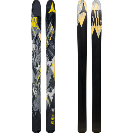 Ski Get your daily dose of adrenaline with the Atomic Atlas Ski. Ideal for those who feel straightlines, hucks, deep pow, and a bit of effortless maching is all part of a balanced breakfast, the Atlas features a solid wood core, rockered tip, and camber underfoot to help you achieve your big-mountain freeride dreams. Thanks to its lightweight core, the Atlas also works well as your freeride backcountry ski that tours like a beast and allows you to send it like the big dogs. - $524.99