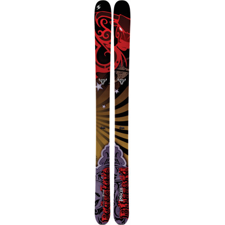 Ski With the Blizzard Bodacious Ski beneath you, you straightline down a steep, tight section and into a plume of bottomless snow. The rockered tip and tail and flat camber underfoot help with shreding big lines and carving deep groomer trenches on your way back to the lift. - $559.95