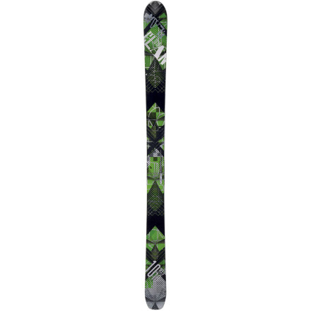 Ski Designed to suit the needs of the most demanding freeriders, the Elan 1010 ALU Alpine Ski boldly leaves its mark anywhere you take it on the mountain. A lively wood core sandwiched between two titanium layers gives the ski powerful edge control and snappy responsiveness in a host of snow conditions. The aluminum top sheet provides the thinnest profile on the market and works with the 110mm footprint and Mountain Rocker for effortless flotation in waist-deep freshies. - $487.47