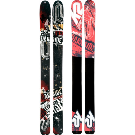 Ski Whether your sights are set on long tours in the backcountry or pow-hunting in-bounds, the early-rise tip, 128-millimeter-waisted K2 DarkSide Ski is game. The Darkside's flat tail offers stability for out-of-bounds traverses and high-speed exits and is convenient for pit digging, plus K2 included a notch in the tail so your skins stay put all skin-track long. - $599.96
