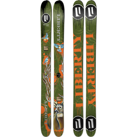 Ski Fully rockered in the tip and tail with 141mm underfoot, the Liberty Genome Ski plays harder and faster than any of those less girthy sticks. A slight camber underfoot allows the Genome to be surprisingly nimble on the hardpack while the handmade Bamboo Backbone core keeps the weight down. One epic powder day on the Genome and you'll understand why fatties have all the fun. - $599.21