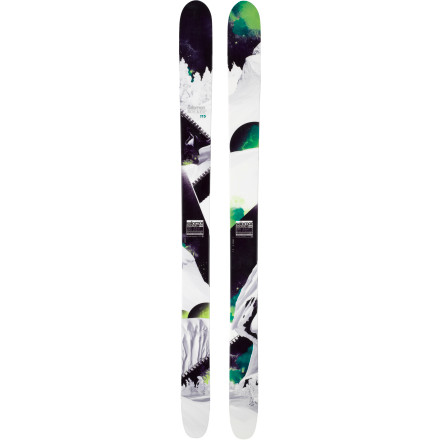 Ski The Salomon Rocker2 115 is the ski of choice for powder surfing and big-mountain crushing. The fatty-rockered tips and tails float effortlessly while a little extra sidecut puts 113mm underfoot for sweeping turn perfection. This ski is prepared to devour the big mountains and have fun while it's feasting. - $524.99