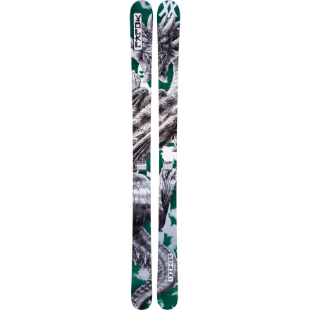 Ski If you're lucky enough to stand atop the world's deepest powder and steepest terrain, you'd better hope you have the Volkl Katana Ski underfoot to ensure a solid, speedy ride through the maze of trees, rocks, and snow. Fat dimensions and a fully rockered profile ensure floatation once the week-long storm buries everything in sight. While nimble enough for storm-day tree stashes, this titanium-reinforced plank really wants to straight-line big-mountain lines and slash huge powder turns. - $539.40
