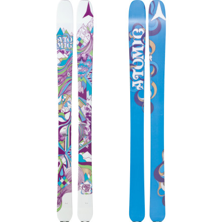 Ski Designed for ladies who prefer terrain less traveled, the Atomic Century Ski features a powdered rockered tip, camber underfoot, and a wood core that longs for untracked snow. Thanks to its 100mm underfoot, the Century handles well both on and off trail and feels right at home when you utilize it as your touring setup. Grooves in the Century's tail also offer a going-nowhere anchor point for your skins. - $299.99