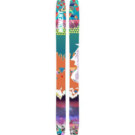 Ski The Moment Women's Reagan Ski has a flat camber and progressive twin rocker that just want to surf, spin, and butter powder after every fluffy storm. If having fun is second to none while you're on the mountain, it's time you invested in a ski that has the same priorities. - $428.97