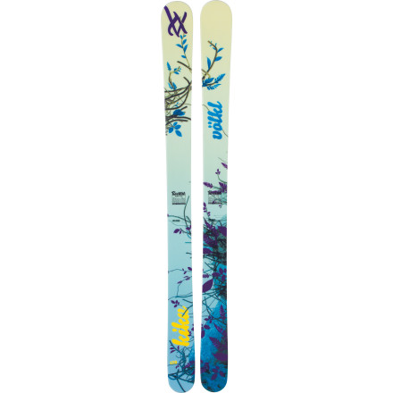 Ski Get on the Volkl Kiku Ski, and get into the zen of ripping the slope to shreds. Fully rockered and endowed with a 107mm waist, the Kiku will send it hard, huck big, and tear the crap out of any snow, with the grace and beauty of a cherry blossom. - $524.25