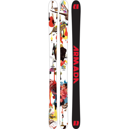 Ski Armada decided long ago that women should decide the direction of its women's line of skis. As such, the ARVw ski was tested, critiqued, and tweaked by Armada's female athletes. After intense scrutiny, it was decided that this all-mountain dominator should have a wide, stable platform, traditional camber, and burly, full sidewall construction. It's a classic design with tweaks that account for differences in stance and weight between a woman and a man. - $419.97