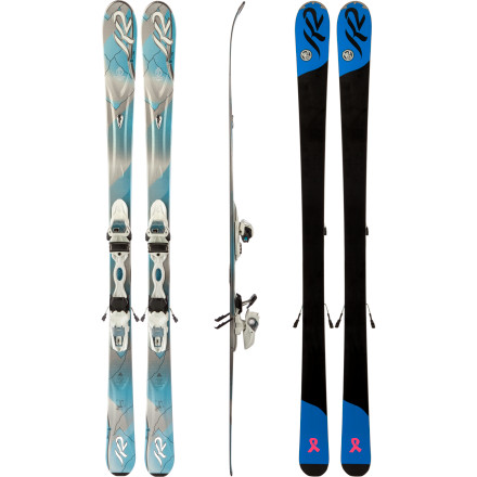 Ski The K2 SuperSweet Ski with Marker ER3 10.0 Binding has a nice serving of tip and tail with a scooped-out sidecut that makes carving easy as pie. Hone your skills without worry with the easy-turn, Catch-Free rocker, and treat yourself to a very satisfying season. - $374.96
