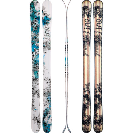 Ski The Line Women's Celebrity 90 Ski loves slashing ankle-deep pow, carving high-speed groomers, and maneuvering tight bump lines. Designed to gracefully handle a wide variety of terrain, this all-mountain ski is light, agile, and solid and stable underfoot. The composite-reinforced wood core holds a hard line without chattering, and the early-rise tips make turn initiation wicked-easy. Confident on groomed hardpack and more than ready to take a few pow runs, the Celebrity 90 will leave you starstruck. - $374.96