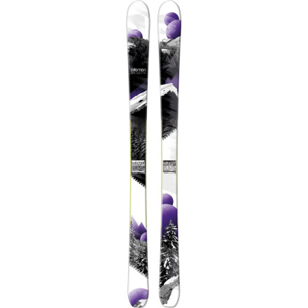Ski After months of warm weather, your legs itch to get back on snow and on the Salomon Women's Rockette 90 Ski. Designed for all-mountain performance, this wood-core ski delivers solid stability on hardpack and soft snow, while its All Terrain Rocker profile offers easy and progressive turning and precision when you step up your game on more challenging terrain. - $374.99