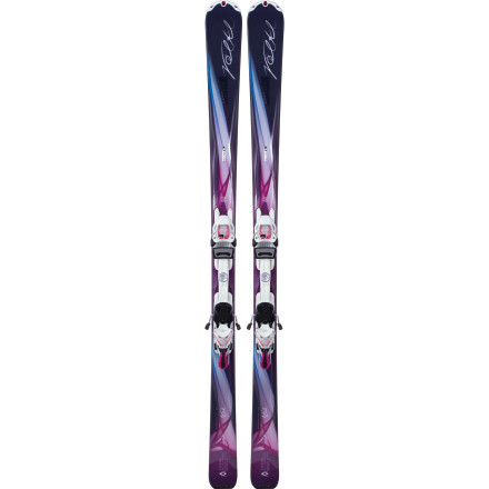 Ski You look at the Volkl Women's Chiara Ski with 4Motion 11.0 TC Essenza Binding, and you have a vision. It includes perfectly linked turns, your speed kicking up snow in your wake, and a big, fat, irrepressible smile. Light and forgiving at its core, snappy and sure underfoot, and nice and wide at the tip, the Chiara yearns to make your dream come true. - $559.30