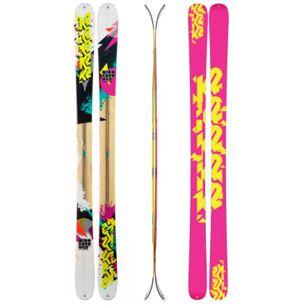 Ski The K2 Women's MissConduct Ski lives for the halfpipe and the terrain park and for jibs off cornices and natural features. The All-Terrain Rocker profile and 85mm waist make it lightweight and snappy off of lips and stable in the pipe, while its women-specific core keeps the swing weight low and the amplitude high. This versatile all-mountain park ski also has superb carving skills and gives you the tools to build your confidence on hardpack, steep terrain, bumps, and soft snow. - $299.96