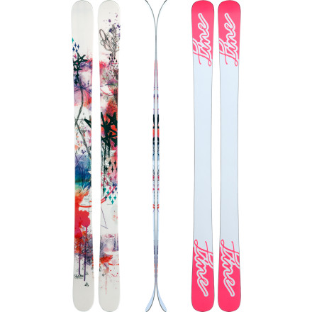 Ski Equipped with the buttertastic, jib-happy Line Women's Shadow Skis, you can smoothly hit the rail and land switch without a hitch. (After hours of practice, of course.) Line gave these skis a lightweight aspen wood core, Symmetric Flex technology, and a stellar park and pipe profile that excels in the terrain park and handles the rest of the mountain too. - $262.46