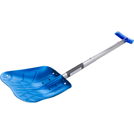 Ski Ortovox designed the top-of-the-line Professional Alu II Avalanche Shovel to meet the highest demands of functionality. This scooper features an unbreakable aluminum/magnesium allow blade with sharp edges ideal for cutting into consolidated snow and avalanche debris. The ergonomic grip can be setup for comfortable use by lefties or righties, and this shovel also functions as a hoe. - $68.95