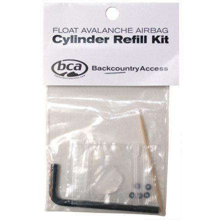 Ski You pulled the cord on your BCA Float Backpack, emptied an air cylinder, and now you need to refill the unit before you head out again. Assuming that you have either a refill adapter or you've had the cylinder refilled at a local shop, this kit contains everything you need to replace the o-ring, regrease the threads, and secure an air cylinder back in your Float pack. - $5.96