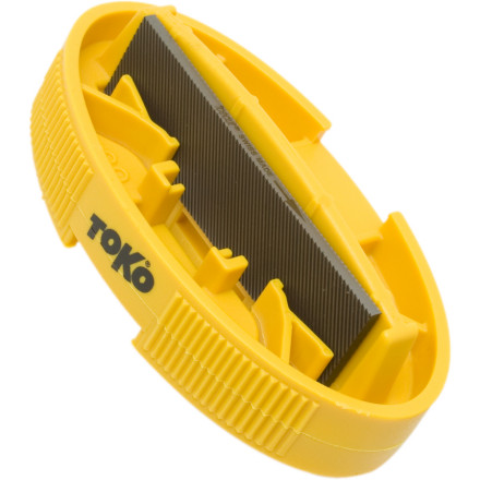 Ski For a quick hit on your edges while youre on the hill, be sure to carry to Toko Ergo Race Edge Tool. This ergonomically shaped device preps both your side edge (88-89 degrees) and the base edge (.5-1 degrees). Includes a Toko 80mm World Cup Chrome File. - $28.46