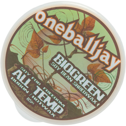 Ski Don't ask OneBallJay how he got his nickname, or he'll tear up and walk away. Just grab some of his BioGreen Rub-On Wax and get back to taking care of your board. This all-temperature wax is made with soy-based ingredients so you don't pollute the watershed you shred, and it comes with a natural cork applicator for ease of use. - $9.34