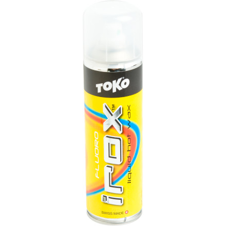 Ski Simplify your base tuning regimen when you use the Toko Irox Spray Wax, which acts just like traditional hot wax, but without the need to melt or scrape it. The spray-on feature allows an even coat and shortens tuning time when you want to go to the spontaneous storm party instead of spending all night waxing your downhill weapon(s). - $19.95