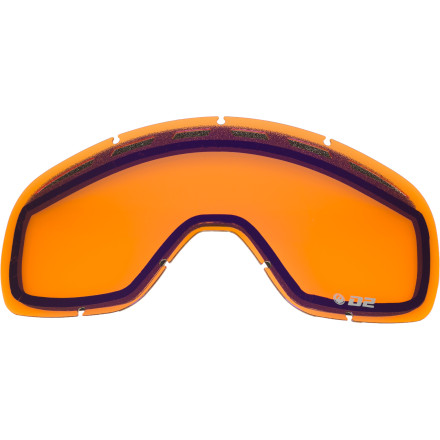 Ski Just because you got punched in the face by a Yeti doesn't mean your Dragon D2 Goggle is done. Get the D2 Goggle Replacement Lens and bring your goggs back to life. Or maybe you didn't have an encounter with an elusive beast and you just want a different shade to match the super-sunny or stormy conditions. Either way, this polycarbonate lens blocks 100% of UV rays and features an anti-fog coating and vents to reduce fogginess and give you clear vision for maximum snow slaying. - $21.57