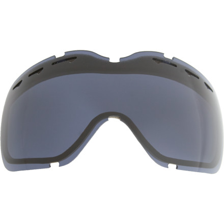 Ski Your super tinted goggles just not cutting it on stormy days' Pick up an Oakley Stockholm Goggle replacement lens. Choose from a variety of lenses (see lens tint chart) if you took a nasty fall and scratched your other Stockholm lens, or you just need a more versatile lens for overcast days so you can right when the light is flat. All Stockholm Replacement Lenses feature Oakley's distortion-free XYZ optics and fog-killing venting and moisture-absorbing F3 coating. - $22.50