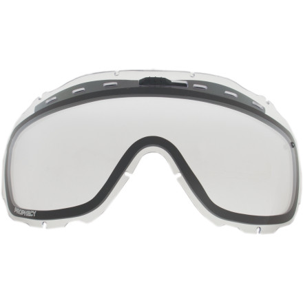 Ski Using your snow goggles for protection during your firecracker experiments was a step in the right direction, but it wasnt a big enough step. Now your lenses are destroyed, and the rest of your face is still recovering from mini-shrapnel wounds. Before you hit the hill again, grab a Smith Prophecy Replacement Goggle Lens. It wont do anything about the metal shards buried under your skin, but it should help you see and hopefully think a little more clearly. - $24.95