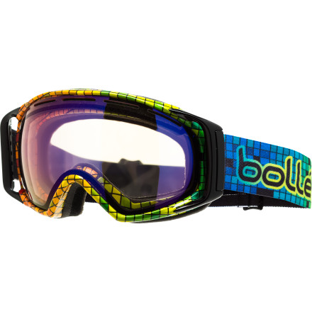 Ski The Bolle Photochromic Gravity Goggle adapts to lighting conditions, so you don't have to worry about whether you brought the right goggle or not. You did. Fuggedabaddit. - $83.97