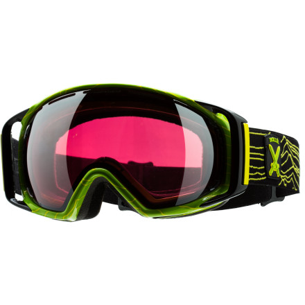 Ski Slopestyle master Chad Otterstrom worked with Boll designers to incorporate the topographical features of the Tenmile Range Terrain into his Signature Gravity Goggle. The Goggles spherical shield provides the extra-large peripheral vision Chad requires to spot his landings when he throws down in the quarter pipe and the Flow Tech Venting keeps his vision crystal clear run  after run. These Goggles also come with a Tenmile Range inspired gift box, goggle pouch, and bandana. - $65.97