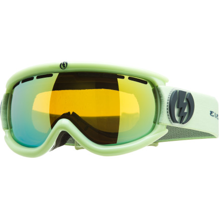 Ski The Electric EG.5s Goggle keeps the vision of tomorrow's riders clear with a scaled-down design just for kids or anyone with a smaller face. The lens in the EG.5s is coated with an anti-scratch and and anti-fog coating to fend off the fog and scuffs from run-ins with your gear. And with the articulating strap, a perfect fit with your helmet won't be a problem. - $59.97