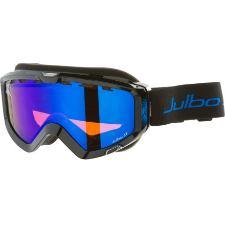 Ski Since the sun reflecting off the snow can fry your retinas like a greasy griddle, cover them with the Julbo Down Goggle before you try to navigate the alpine. The wide frame and lens give you great peripheral vision to spot your landings in the park or to spot flailing beginners on a collision course. - $59.97