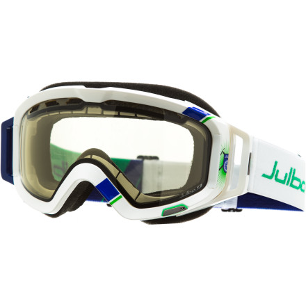Ski With the adaptable Zebra Light Photochromic lens in the Julbo Orbiter Goggle, you can be confident in having optimized visibility, especially under the darkest stormy skies. When the weather changes from clear to overcast to flat to dark, you'll be ready. In addition to adapting to changing light conditions, the lens has ample ventilation for all-day fog-free performance. - $179.95