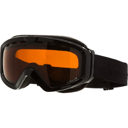 Ski With the Julbo Polar Goggle, skiers and riders can experience Julbo quality and performance at a price that won't break the bank. The polarized lens eliminates glare on bright sunny days and has a colored mirror finish for some added style. Ventilation in the lens keeps your vision fog-free, and the anatomic frame shape comfortably fits the contours of your face. - $77.97