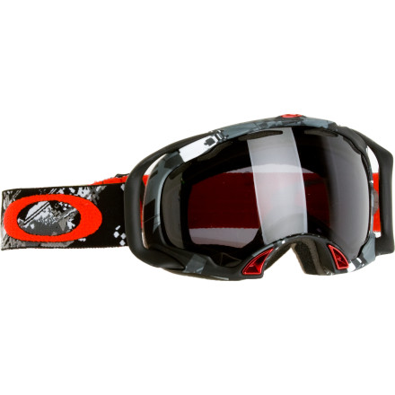 Ski Oakley loaded the Polarized Splice Goggle with a grip of technical features to make sure your eyes are protected and your face is comfy. The polarized lens helps block horizontal reflectivity (like venetian blinds for your eyes) so you get less glare, and the dual vents and moisture-wicking fleece help keep your eye area fog and sweat-free. - $230.00