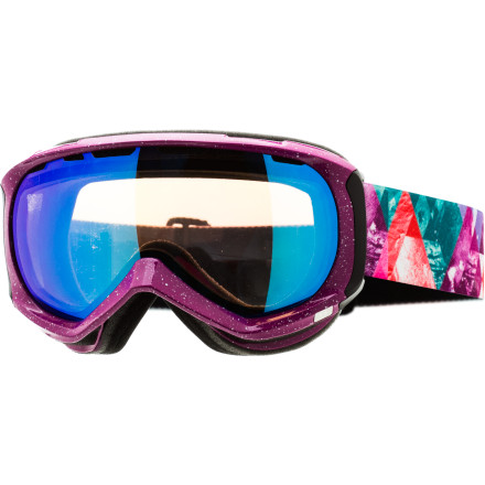 Ski Designed for smaller faces, the Scott Reply Plus goggle employs all the features of its larger siblings in a smaller package. The 'Plus' means fancy graphics on the frame and strap for additional style. - $65.97