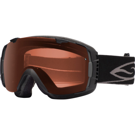 Ski You can keep pretending that you can see just fine while you stumble down the mountain half-lost in a blur of glare, or you can finally get with the program and wear the Smith I/O Interchangeable Polarized Goggles. While the straightforward look of these slick shades might make you think they're just for style, these goggles are loaded with the kind of high-tech wizardry you need to keep your vision clear in extreme environments. - $234.95