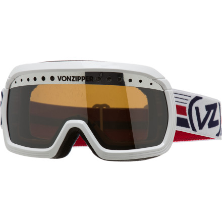 Ski The new Von Zipper Fubar Goggle'''s shape is inspired by the days when tight snow pants were the norm and fanny packs where practically required. But don't let the oversize frame with the old-school shape fool you; the Fubar features ultra-modern, tech-loaded anti-fog lens and in a highly-flexible frame for killer visibility and comfortable eye protection. - $44.97