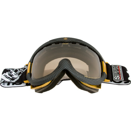 "Ski Zeal gave the Link SPPX Goggle Sperical Polarized-Photochromic lenses that not only automatically adjust lens tint on bright days, but also enhance your ability to see terrain on overcast, low-light days. Oversized air intakes in the front lens help move moisture away from the anti-fog lenses, and a helmet compatible design fits your lid like a glove. Shred from bell to bell without ever having to say, ""save some powder for me, I need to swap lenses."" - $139.96"