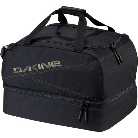 Ski You want to stuff as much extra gear into your boot bag as possible, but youd also rather not have your beanie and goggles grinding against your boot soles. The DAKINE Boot Locker puts your boots in a bottom compartment and your helmet, hat, and goggles in a top compartment. - $47.96
