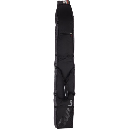 Ski Traveling through airports and bus terminals can be brutal on your expensive skis. Slide two pairs of skis inside the Swix Fully Padded Ski Bag and protect your gear. A large, u-shaped opening swallows up your skis easily, and external compression straps allow you to cinch everything down into a nice, tight package. - $96.00