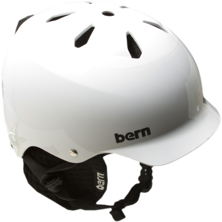Ski Protect your head all winter with the Bern Watts Hard Hat Helmet; when summer rolls around, pop out the knit liner and shred the skate park or dirt pump track comfortably. Skiing, snowboarding, skating or biking, the Brock foam inside helps to protect your head from multiple, lower-level impacts rather than one huge, catastrophic hit. For everyone who lives in a state where the sun scorches your eyeballs 350 days a year, Bern added a mini-brim to shield your peepers. - $59.97