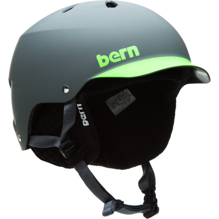 Ski Get four-season head protection from Bern with the Watts EPS Visor Helmet with Knit Liner and look good while playing it safe. The Sink fit provides complete protection without unnecessary bulk, and the ABS shell is specifically designed for EPS foam so it can be as thin as possible without compromising safety. It also comes in a large variety of colors so there's one that suits you no matter what your style is. - $59.97