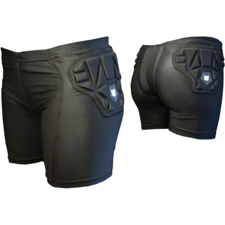 Ski Demon Snow combines a high-performance wicking compression short with body armor in the Women's SKINN Impact Short. Padding on the hips and thighs plus a removable tailbone protector ensure that your next crash won't wind you up in intensive care, whether you're skiing, snowboarding, or mountain biking. - $39.96